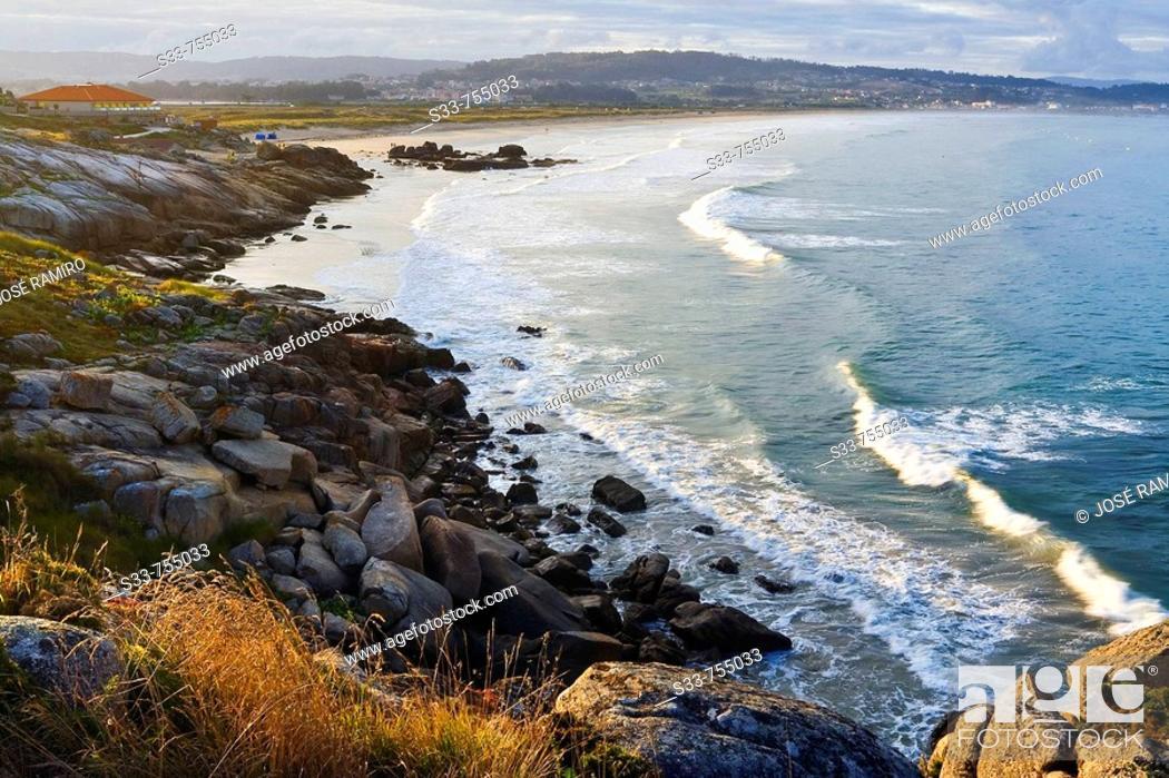 Stock Photo: Playa de La Lanzada. Provincia de Pontevedra. Galicia. Spain.