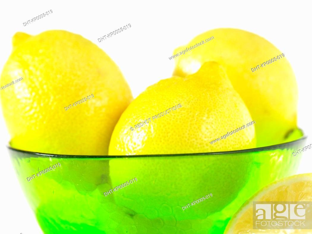 Stock Photo: Food, Fruit, Lemons.