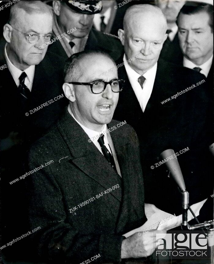 Stock Photo: Jan. 01, 1959 - President Of Argentina Arrives In Washington For State Visit --Argentine Unions Call Off Strike: As all unions in the Argentine told their.