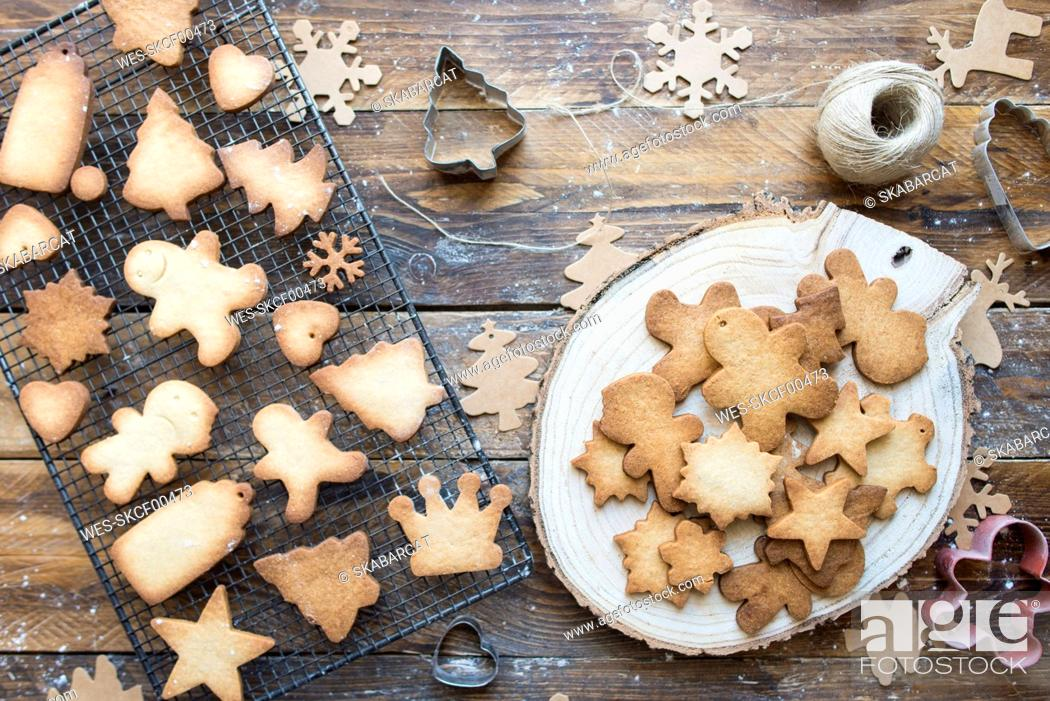 Stock Photo: Various home-baked gingerbread cookies.