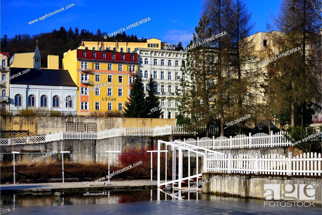 Imagen: Marianske Lazne resort - Marienbad, Karlovy Vary Region, West Bohemia, Czech Republic, Europe.
