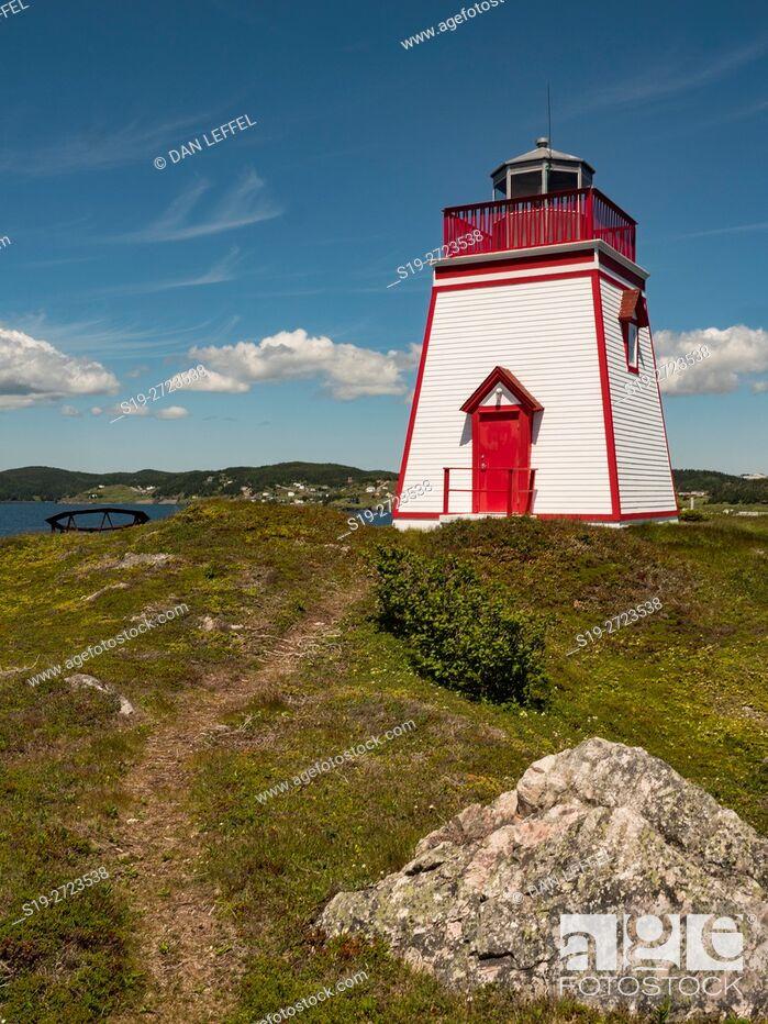 Stock Photo: Canada, Newfoundland, Trinity, Lighthouse.