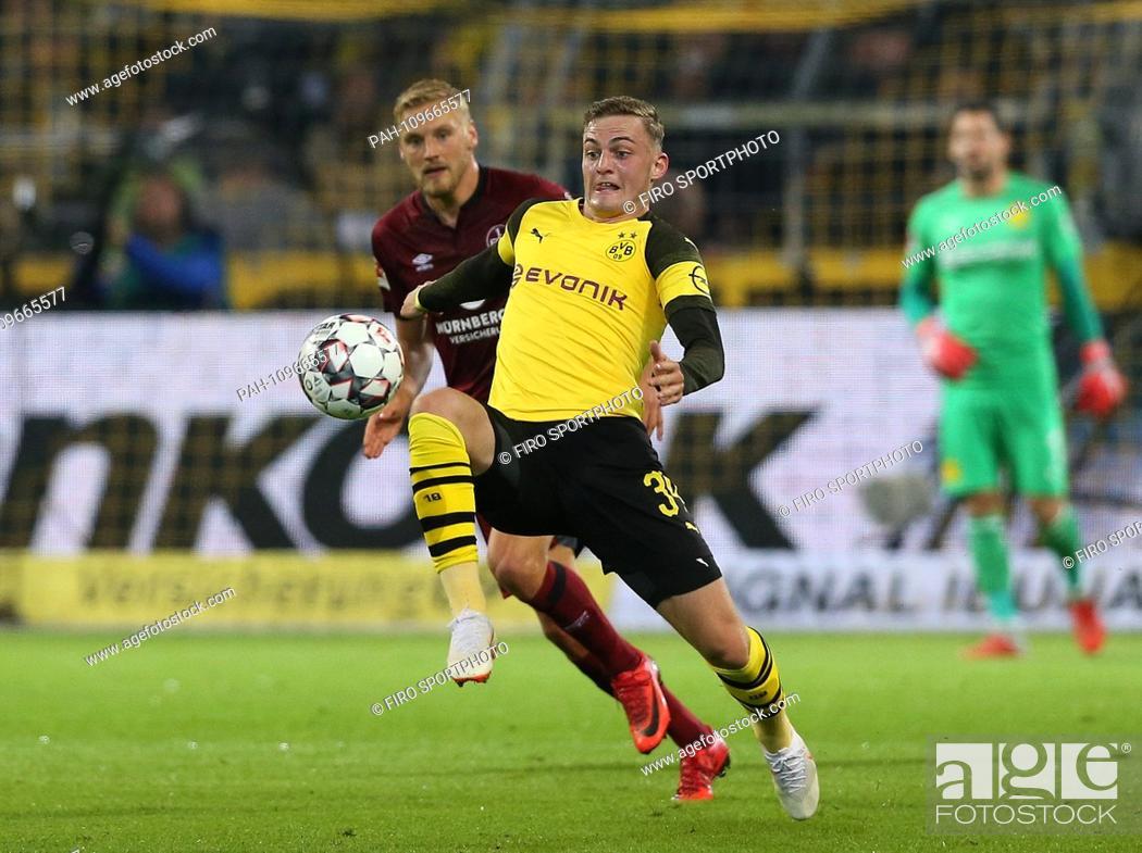 Stock Photo: firo: 26.09.2018, football, 1.Bundesliga, season 2018/2019, BVB, Borussia Dortmund - FCN, 1.FC Nuremberg 7: 0 Jacob BRUUN LARSEN.