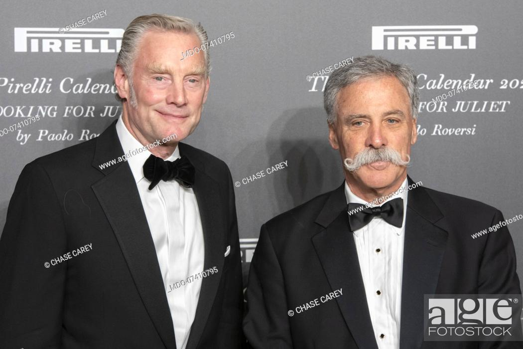 Stock Photo: American company manager Chase Carey and Sean Bratches during the presentation of the Pirelli 2020 Calendar at the Verona Philharmonic Theater.