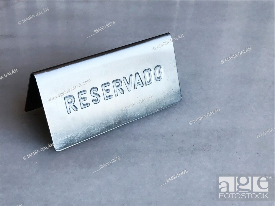 Stock Photo: Reservation plate.