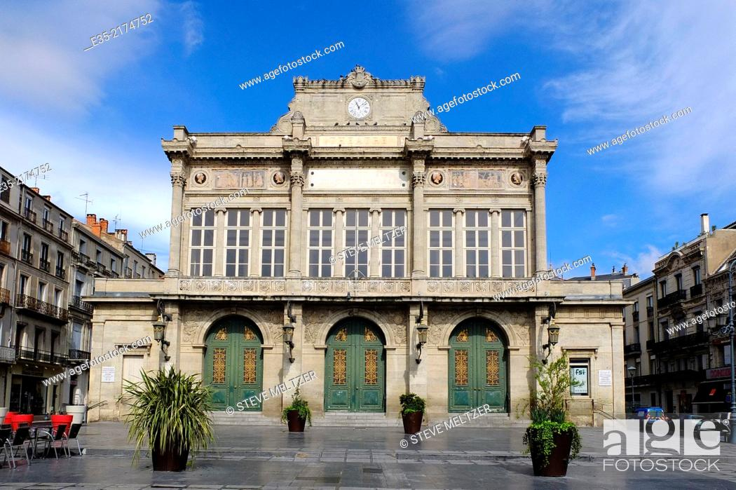 Stock Photo: The Municipal Theater of Beziers, France.