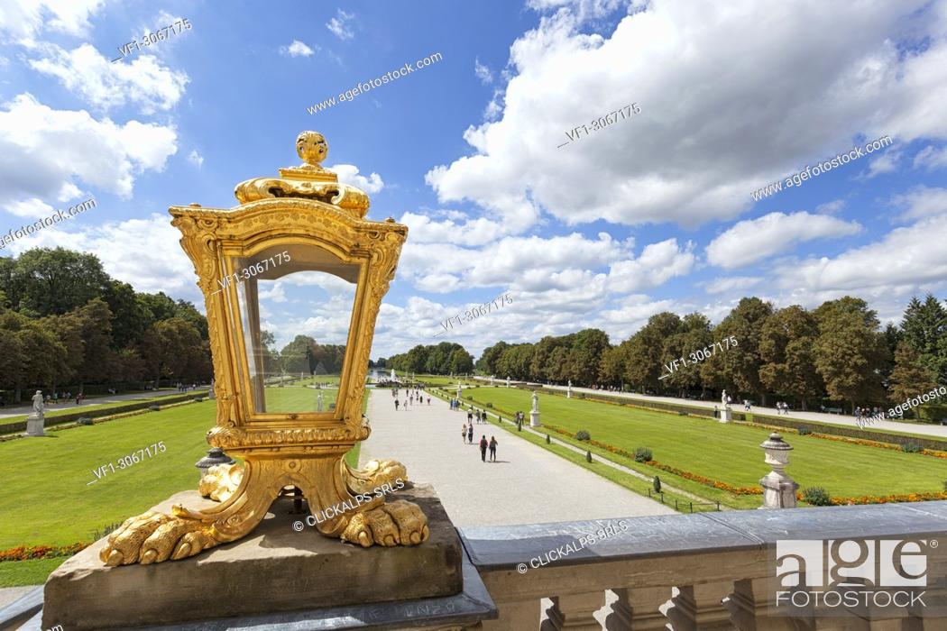 Stock Photo: The park of Nymphemburg Palace, Munich, Bavaria, Germany, Europe.