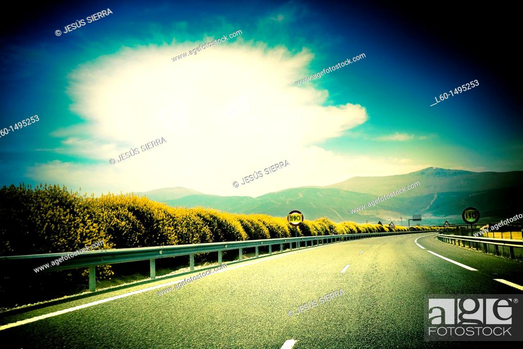 Stock Photo: Road in Andalucia, Spain.