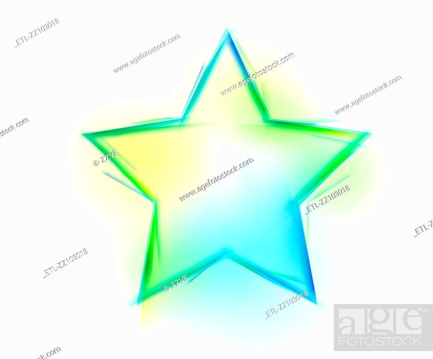 Stock Photo: Star shape on white background.