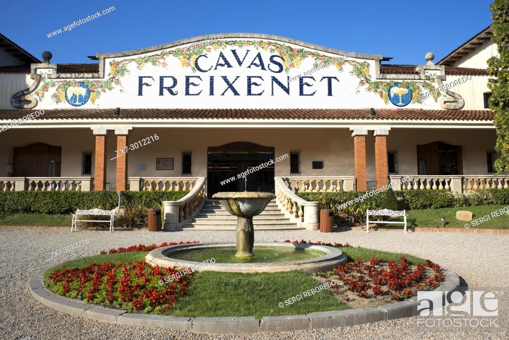 Stock Photo: Cavas Freixenet winery. Sant Sadurni d'Anoia, San Sadurni de Noya. Winery building. Catalonia Spain.