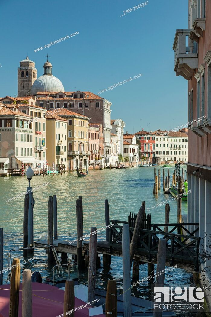 Stock Photo: Grand Canal seen from the sestiere of Santa Croce, Venice, Italy.