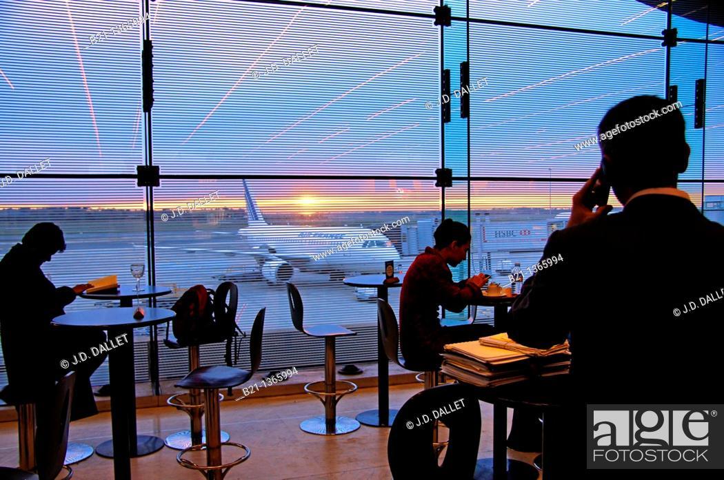 Stock Photo: Bordeaux Merignac International Airport, Gironde, Aquitaine, France.