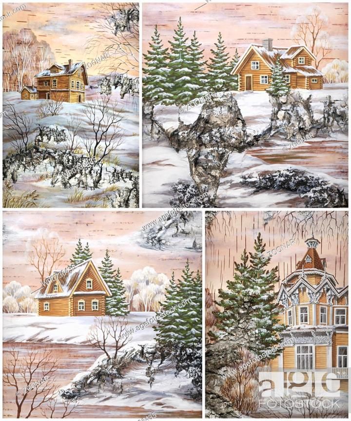 Stock Photo: Siberian buildings.