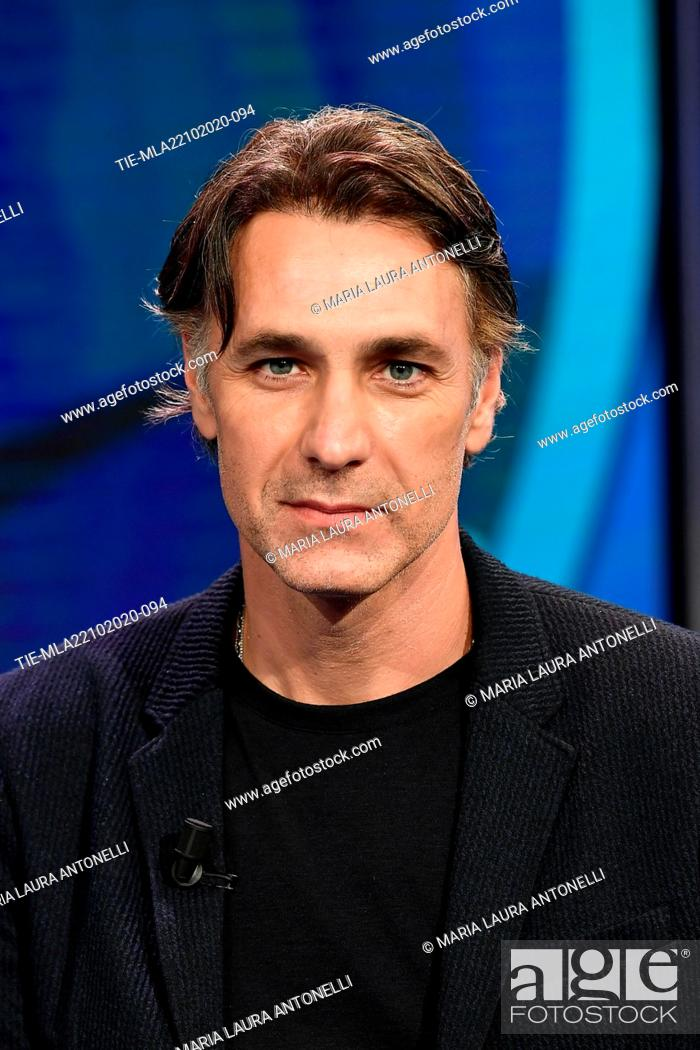 Stock Photo: Actor Raoul Bova attends at the tv show 'Porta a porta' , Rome, ITALY-21-10-2020.