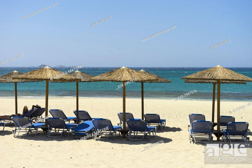 Imagen: Naxos beach resort. Naxos island, Greece.