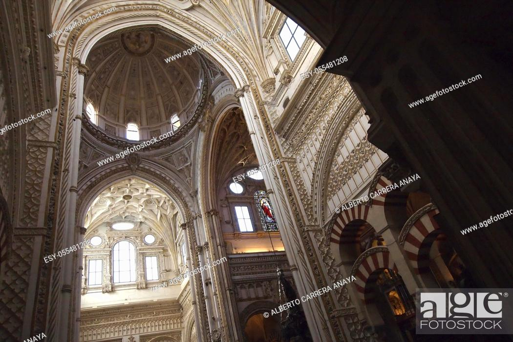 Imagen: Interior View, Cathedral of our Lady of the Assumption Great Mosque of Córdoba, Cordoba, Andalusia, Spain, Europe.