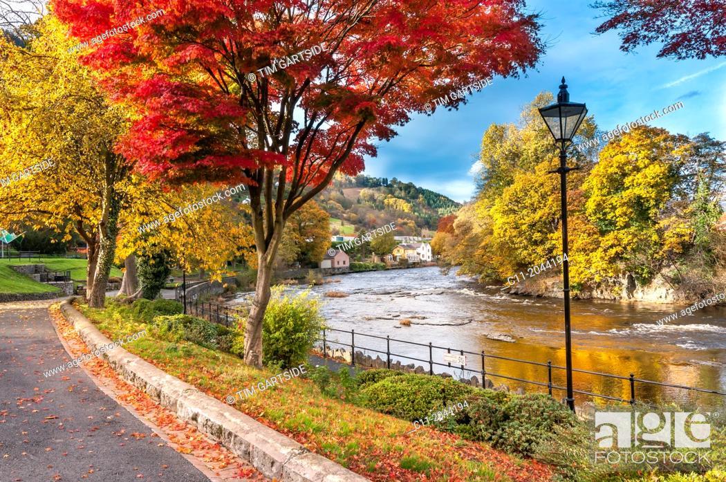 Imagen: River Dee at llangollen in Denbighshire North Wales.
