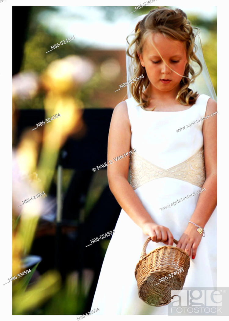 Stock Photo: Flower girl.
