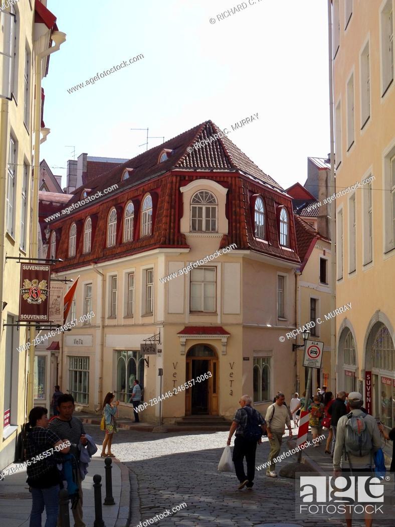 Stock Photo: Tallinn Old Town Medieval Building-Tallinn, Estonia.