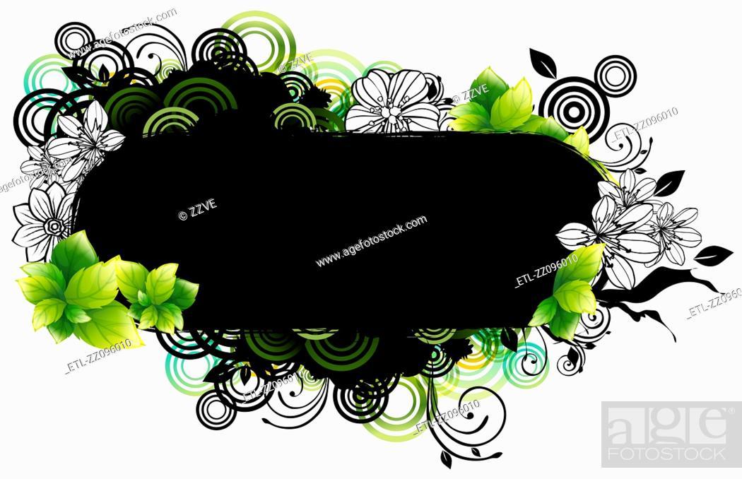 Stock Photo: capsule shape with flora design.