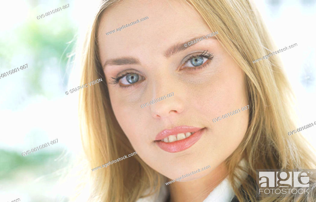 Stock Photo: Close up of a Blonde Woman.