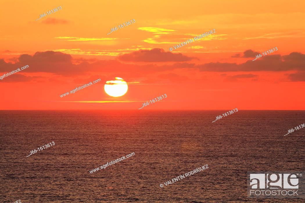 Stock Photo: sunset in Punta Frouxeira  Valdoviño.