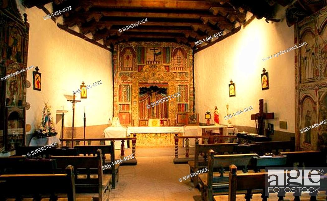 Stock Photo: Santuario de Chimayo Chimayo New Mexico, USA.