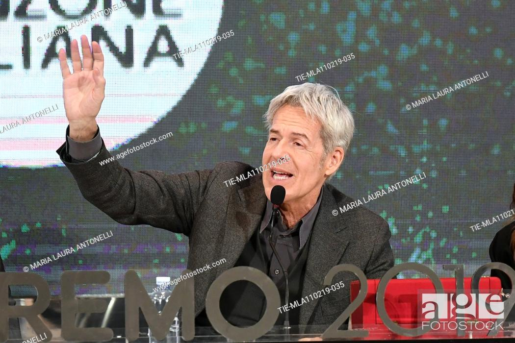 Imagen: Claudio Baglioni during the final press conference of 69th Sanremo Music Festival, Sanremo, ITALY- 10-02-2019.