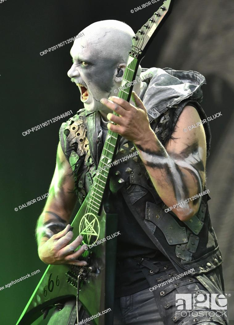 Guitarist Thomas Rune Andersen Of Dimmu Borgir Performs During The International Open Air Festival Stock Photo Picture And Rights Managed Image Pic Ckp P201907120946801 Agefotostock