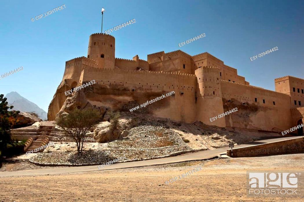 Stock Photo: The Nakhl Fort in Al Batinah, Oman.