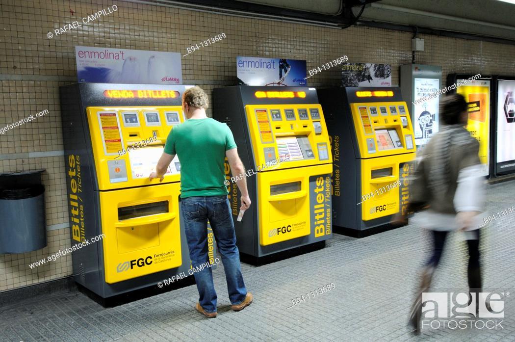 Stock Photo: Railway station. Barcelona. Catalonia. Spain.