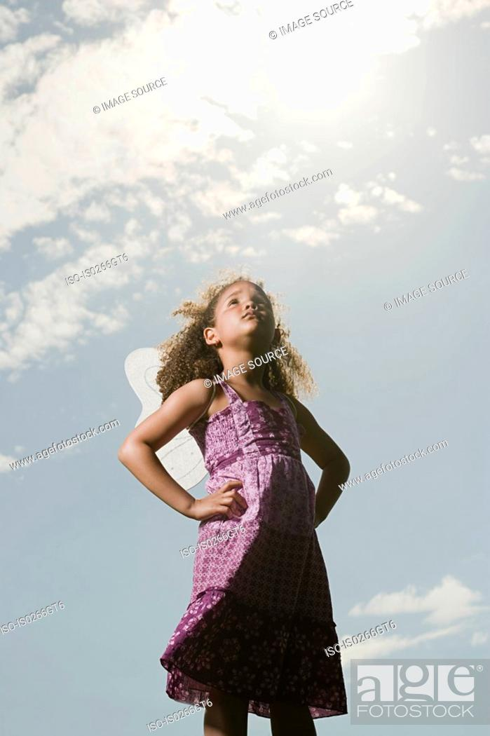 Stock Photo: Girl with hands on hips.