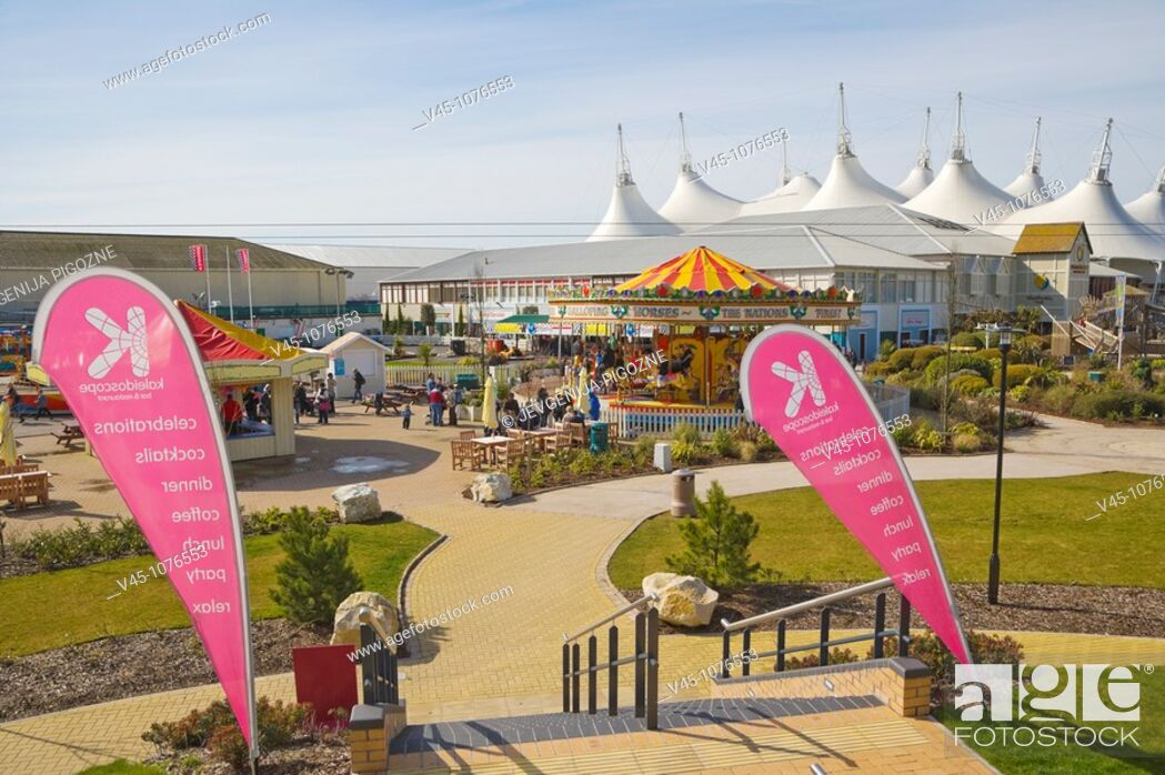 Stock Photo: Skyline Pavilion and funfair. Butlins. Bognor Regis. Arun. West Sussex. England. UK.