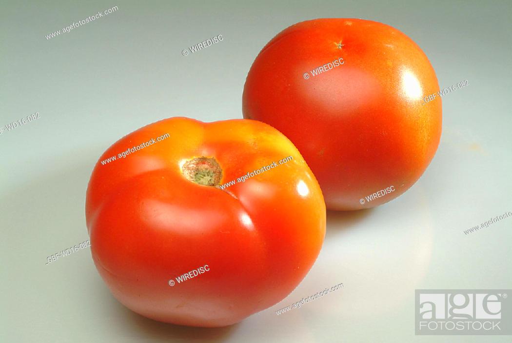 Stock Photo: Food, vegetables, tomato.