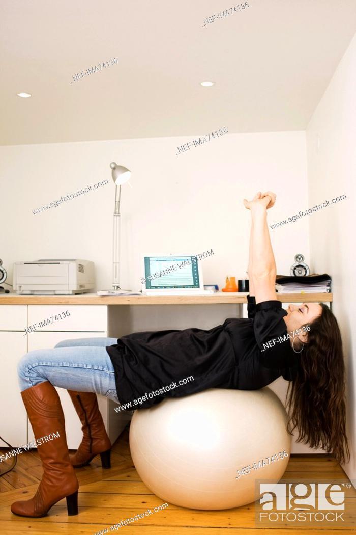 Stock Photo: A woman taking a break, Sweden.