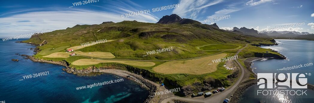 Stock Photo: Aerial view of Borgarfjordur Eystri, Eastern, Iceland.