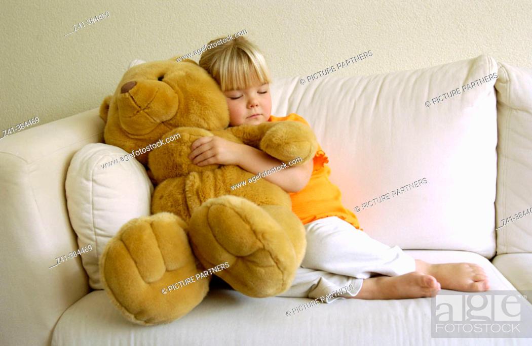 Stock Photo: Girl with Teddy bear.