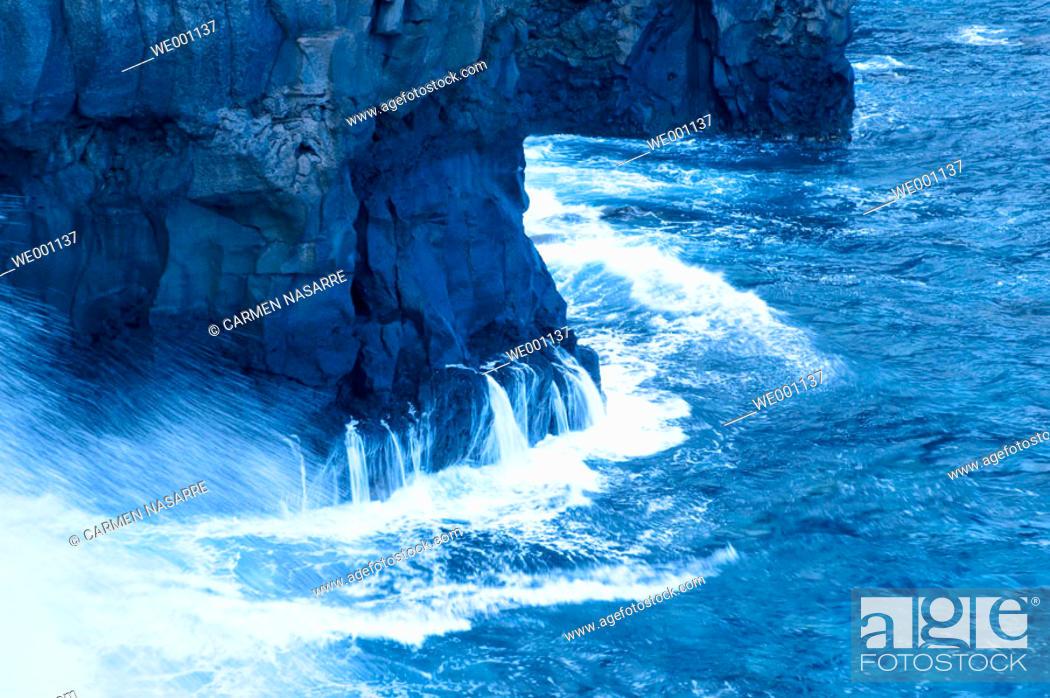Stock Photo: Pozo de la Salud cliffs. El Hierro. Canary islands. Spain.