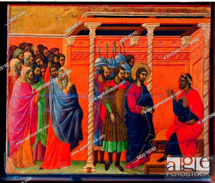 Imagen: Maestà of Duccio (Maestà del Duomo di Siena), by Duccio di Buoninsegna, 1308, 14th Century, tempera on board, 211 x 426 cm.