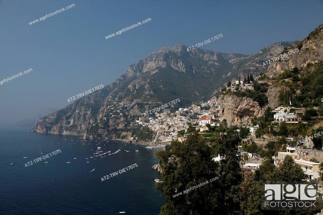 Imagen: POSITANO & MEDITERRANEAN SEA; AMALFI DRIVE, SOUTHERN ITALY; 16/09/2011.