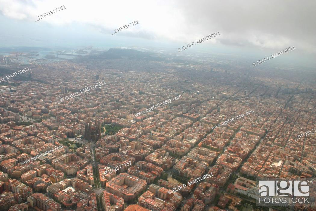 Aerial View Barcelona Spain Stock Photo Picture And Rights