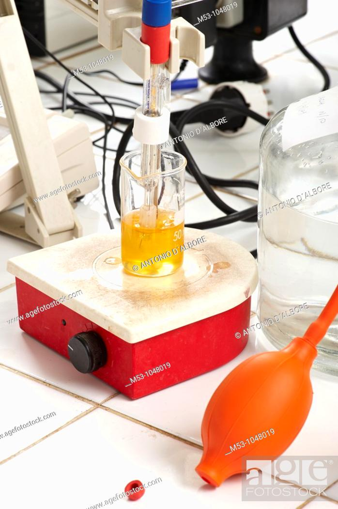 Stock Photo: Chemical lab.