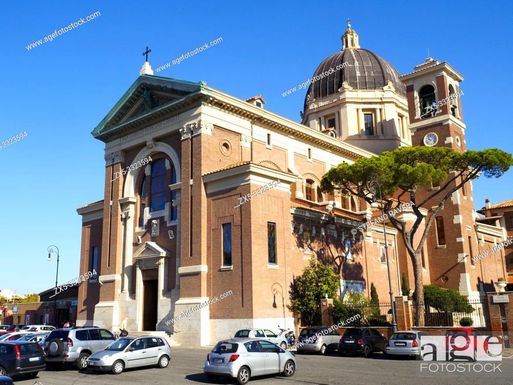 Stock Photo: Santa Maria Regina Pacis church - Ostia Lido, Rome.