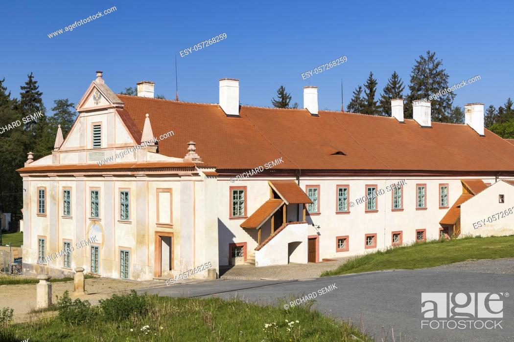 Stock Photo: Baroque cistercian Plasy monastery, Plzen region, Czech Republic.