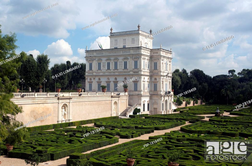 Stock Photo: Villa Doria Pamphili, the Casino del Bel Respiro  Rome, Italy, Lazio, Europe.