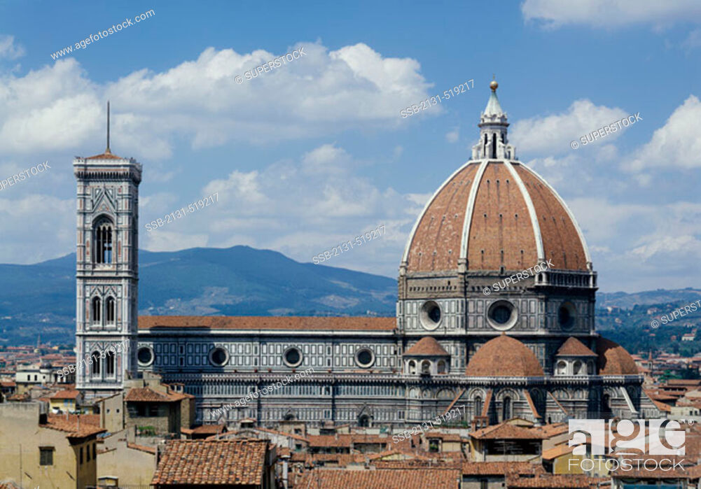 Stock Photo: Duomo Cathedral and Giotto's Tower Florence Italy.