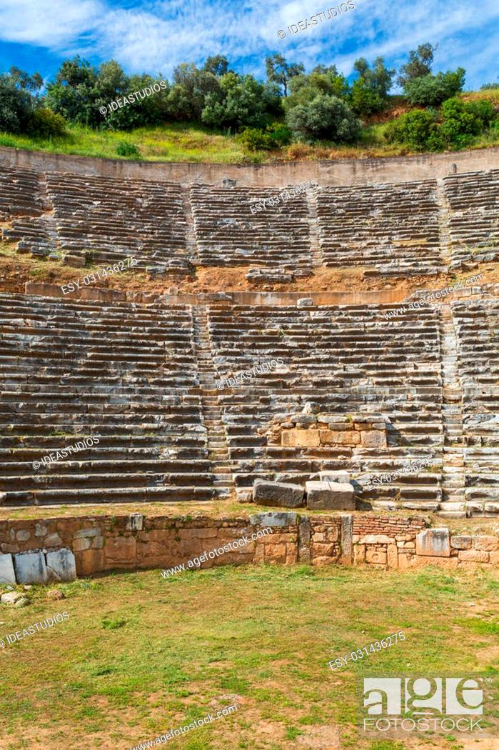 Stock Photo: Ancient theatre ruins of ancient Nysa on the Maeander Aydin Province Turkey.