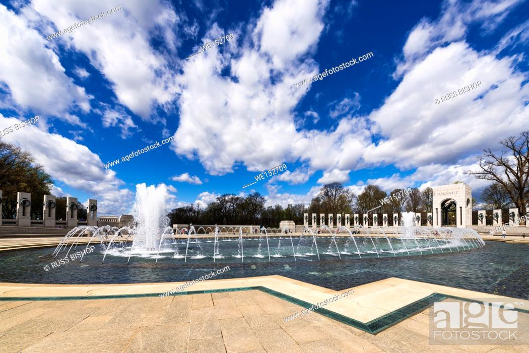 Stock Photo: The World War II Memorial, Washington, DC USA.