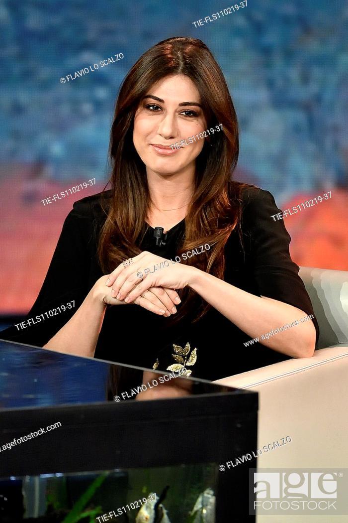 Imagen: Virginia Raffaele during the tv show Che tempo che fa, Milan, ITALY-10-02-2019.