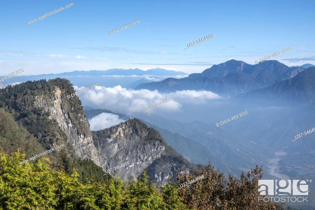 Stock Photo: Ogasawara Mountain Watchtower, Alishan National Park, Taiwan.